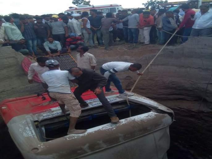 Dhule-Kalyavan bus accident | धुळे-कळवण बसला मेशीजवळ अपघात