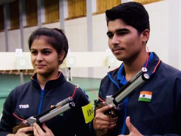 Breaking news: India's gold medal in shooting World Cup | Breaking news : नेमबाजी वर्ल्डकपमध्ये भारताला सुवर्णपदक