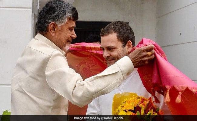 Chandrababu's visit to BJP without BJP | भाजपेतर सरकारसाठीचंद्राबाबूंच्या भेटीगाठी