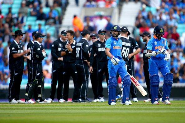 ICC World Cup 2019: India given 180 runs target to New Zealand in warm-up game   आयसीसी वर्ल्डकप 2019 : सराव सामन्यात भारताची दैना, न्यूझीलंडपुढे 180 धावांचे आव्हान