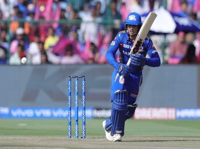 IPL 2019 RR vs MI: Mumbai Indians post 5/161 runs against Rajasthan Royals | IPL 2019 RR vs MI: मुंबई इंडियन्सच्या 161 धावा, डी कॉक-यादव चमकले