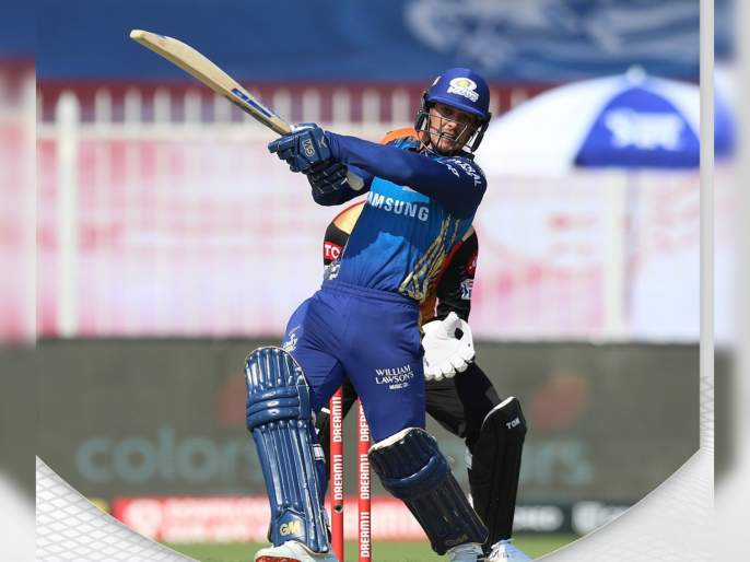 MI vs SRH Latest News : 6 4 4 6. Krunal Pandya finishes things off in style. SRH need 209 for a win | MI vs SRH Latest News : मुंबई इंडियन्सला अपेक्षित पल्ला गाठण्यात अपयश, SRHच्या गोलंदाजांचं कौतुक