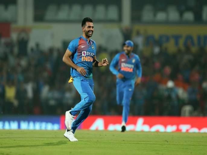 2 hat-tricks in 3 days - Deepak Chahar continues stellar run in Syed Mushtaq Ali Trophy 2019   3 दिवसांत 2 हॅटट्रिक : बांगलादेशनंतर दीपक चहरचा 'या' संघाला दे धक्का!