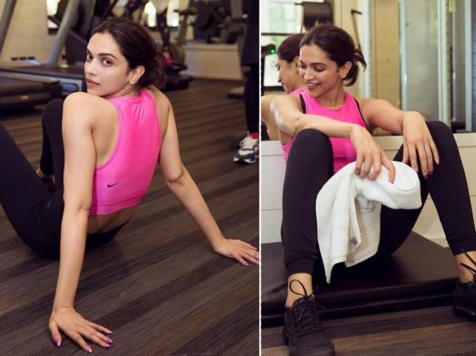 Deepika padukone doing pilates session in gym latest workout viral video of deepika to stay fit | VIDEO : फिटनेससाठी दीपिका पादुकोणचा पायलेट्स सेशन फंडा!