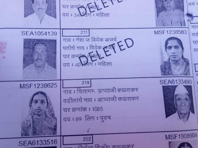 The live voter showed dead | जिवंत मतदाराला दाखवले मृत;मतदानापासून राहावे लागले वंचित