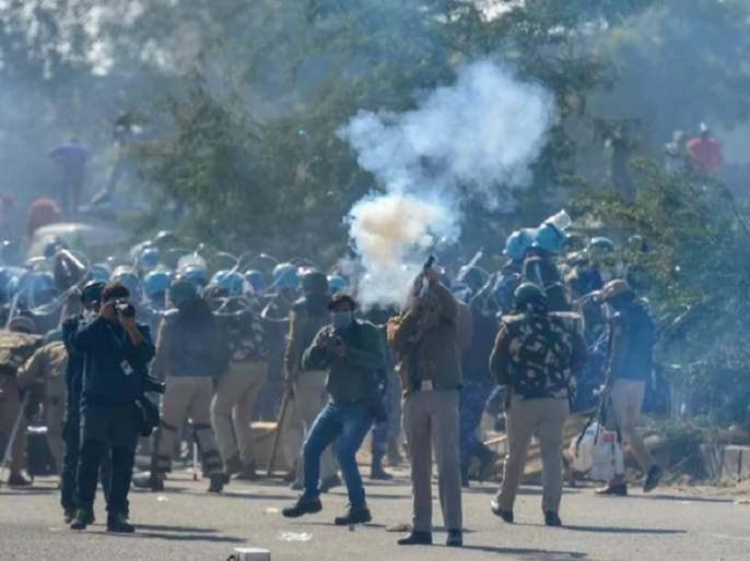 Protest against inhuman repression on farmers' movement in Delhi - Kisan Sabha | दिल्लीतील शेतकरी आंदोलनावर अमानुष दडपशाहीचा निषेध - किसान सभा