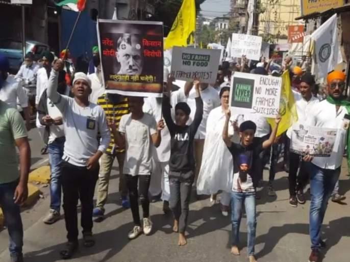 Rally in support of farmers from NCP; Republic Day celebrations in Ulhasnagar | राष्ट्रवादीकडून शेतकरी समर्थनार्थ रॅली; उल्हासनगरात प्रजासत्ताक दिन उत्साहात साजरा