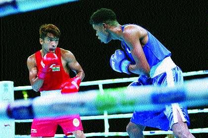 Shiv Thapa and Amit Pangal face the semifinals | शिव थापा, अमित पंघालयांची उपांत्य फेरीत धडक