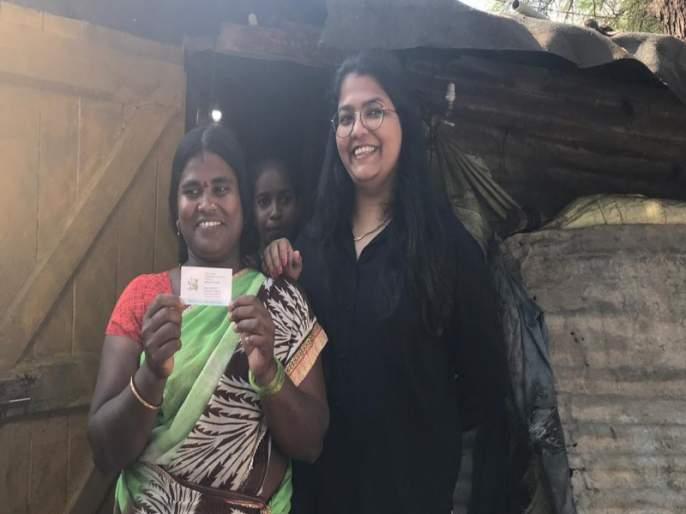 story of Pune housekeeper Geeta Kale visiting card | घरकाम करणाऱ्या गीताताई झाल्या ग्लोबल ; व्हिजीटिंग कार्ड जगभर व्हायरल