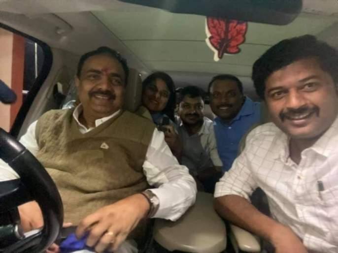 Jayant Patil drove the vehicle himself; 60 km journey from Bhivapur to Bhandara at midnight   जयंत पाटील यांनी वाहनाचे केले स्वत: सारथ्य; भिवापूर ते भंडारा मध्यरात्री ६० किलोमीटर प्रवास