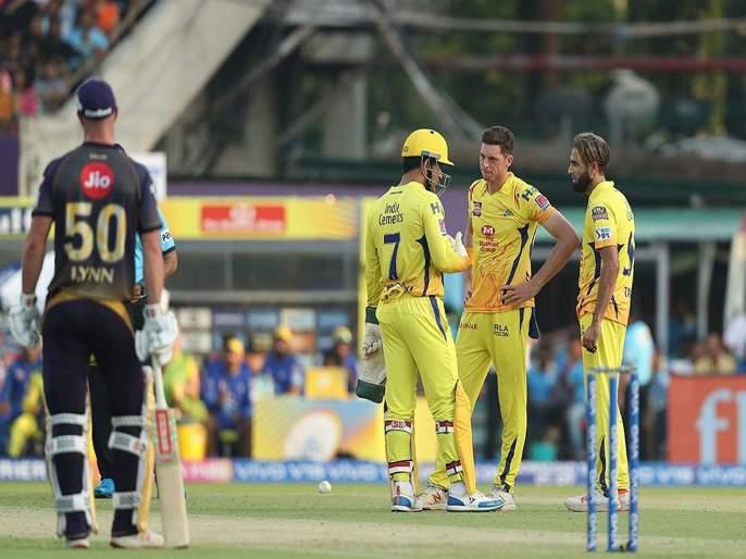 IPL 2019 : MS Dhoni believes in Imran Tahir and see what happens in next over KKRvsCSK | IPL 2019 : कॅप्टन कूल धोनीचा विश्वास ताहीरने सार्थ ठरवला, Video