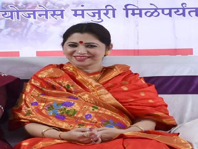 Saklai approval letter: Dipali Sayyad | साकळाई पाणी योजना मंजुरीचे पत्र मिळेपर्यंत उपोषण सुरूच : दीपाली सय्यद