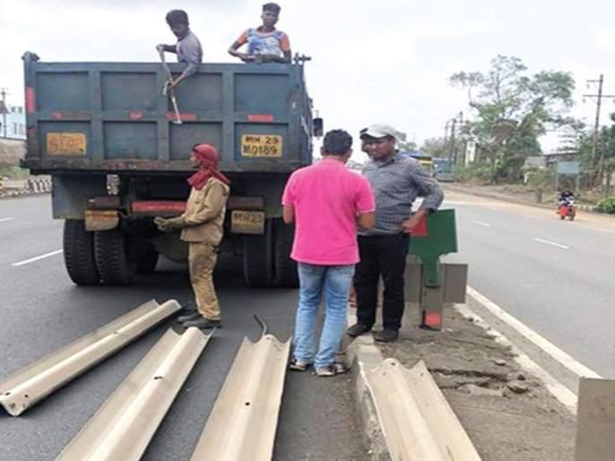 Start of IRB to stop unauthorized dividers on highways | हायवे वरील अनधिकृत दुभाजक बंद करण्यास आयआरबीचा प्रारंभ