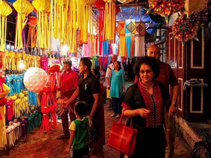 Diwali shopping cool in the polls | निवडणूकीच्या धामधुमीत दिवाळीची खरेदी थंड