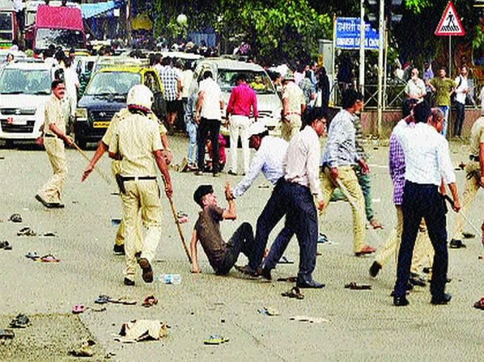 tension increased in Thakkar Bappa colony | ...आणि ठक्कर बाप्पा कॉलनीत तणाव वाढला
