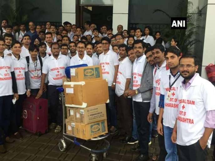 Kerala Flood Relief : 81doctors from maharashtra leave for help | केरळच्या मदतीसाठी महाराष्ट्राची धाव, 81 डॉक्टरांची टीम रवाना