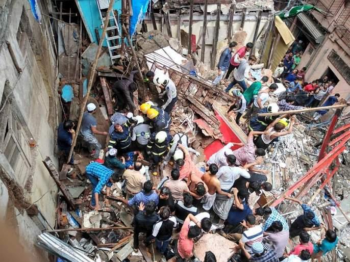 Mumbai Dongri Building Collapsed : Death toll, 12 killed, 9 injured   Mumbai Dongri Building Collapsed : इमारत दुर्घटनेत 13 ठार तर 10 जखमी