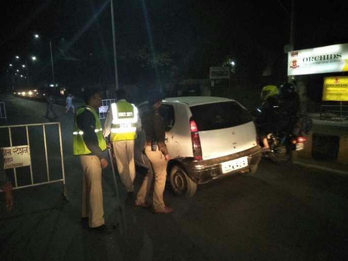 Thane traffic police cracked down on 77 drunk drivers in one night   ठाणे वाहतूक पोलिसांनी एकाच रात्रीत केली ७७ मद्यपी चालकांवर कारवाई