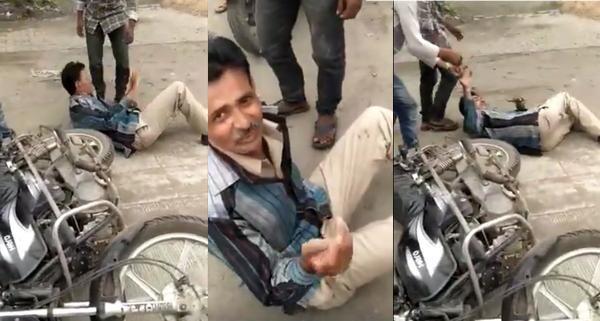 Drunk police video goes viral in Nagpur | नागपुरात मद्यधुंद पोलिसाचा व्हिडीओ व्हायरल