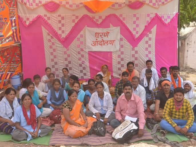 Contract Workers agitation for sallary | वेतनासाठी कंत्राटी कर्मचाऱ्यांचे कामबंद आंदोलन