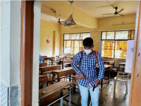 Following the instructions, the school will start in Navi Mumbai   सूचनांचे पालन करीत नवी मुंबईत सुरू होणार शाळा