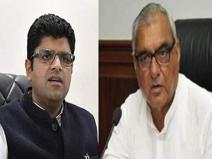 JJP Asked Votes Neither From BJP, Nor Congress: Dushyant Chautala Retorts at 'Vote Kisko, Support Kisko' Comment | जमीन घोटाळा करून राज्याला लुटले, उपमुख्यमंत्र्यांचा हुड्डांवर हल्लाबोल