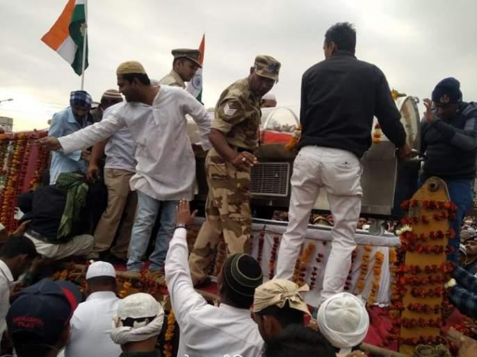 Funeral of Jawan Taslim Munniwale in Government Etiquette   जवान तस्लीम मुन्नीवाले यांच्यावर शासकीय इतमामात अंत्यसंस्कार