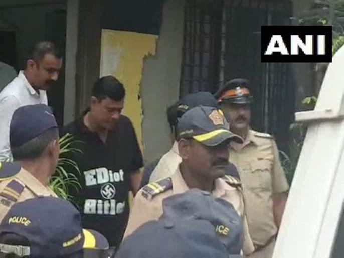 Raj Thakrey, ED Inquiry : Sandeep Deshpande Wear Ediot Hitler T-shirt To Criticize BJP   'ईडीयट हिटलर' ! ईडीच्या चौकशीवरून मनसेचा टोला !