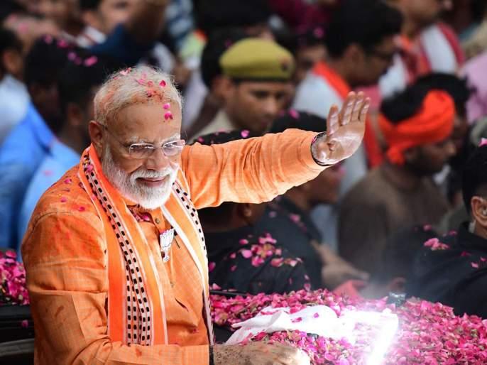 lok sabha elections 2019 modi spent more than a crore rupee on a single days | 'मोदींच्या उमेदवारी अर्जासाठी १.२७ कोटींचा चुराडा'