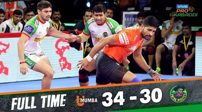 Pro Kabaddi: U Mumba win over Patna Pirates | प्रो कबड्डी : यू मुम्बाने दिला पटणाला धक्का
