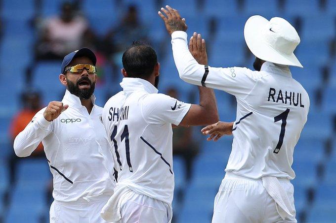 India vs West Indies, 1st Test: West Indies all out for 222; India lead by 75 runs | India vs West Indies, 1st Test : वेस्ट इंडिज 222 धावांत ऑल आऊट; भारताकडे 75 धावांची आघाडी
