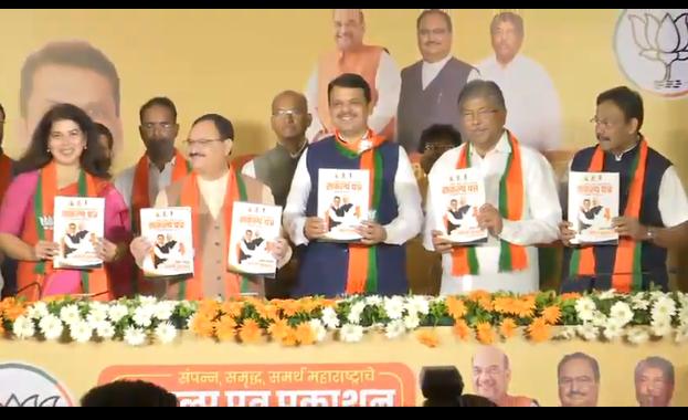 Maharashtra Election 2019: 1 crore jobs will be created in Next 5 years; BJP announces 'resolution' | Maharashtra Election 2019: येत्या ५ वर्षात १ कोटी रोजगार देणार; भाजपाचं 'संकल्पपत्र' जाहीर