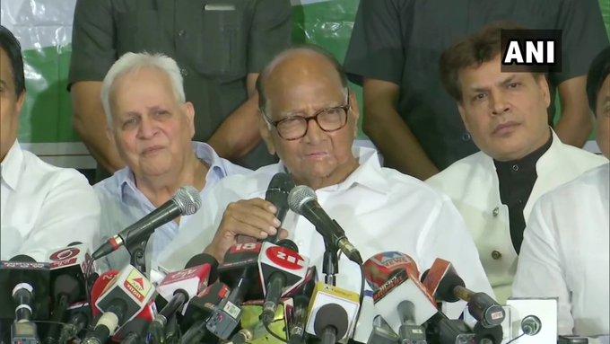 Maharashtra Election 2019: Even when a decision is to be taken, the Congress-NCP will take it together; Sharad Pawar | निर्णय घ्यायचा झालाच, तरी काँग्रेस-राष्ट्रवादी एकत्र घेईल; शरद पवारांकडून 'सस्पेन्स' कायम
