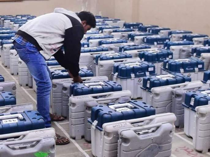 Maharashtra Election 2019: Three-layer security armor for EVM placed Strong Room | Maharashtra Election 2019 : स्ट्राँग रुमला राहणार त्रिस्तरीय सुरक्षा कवच