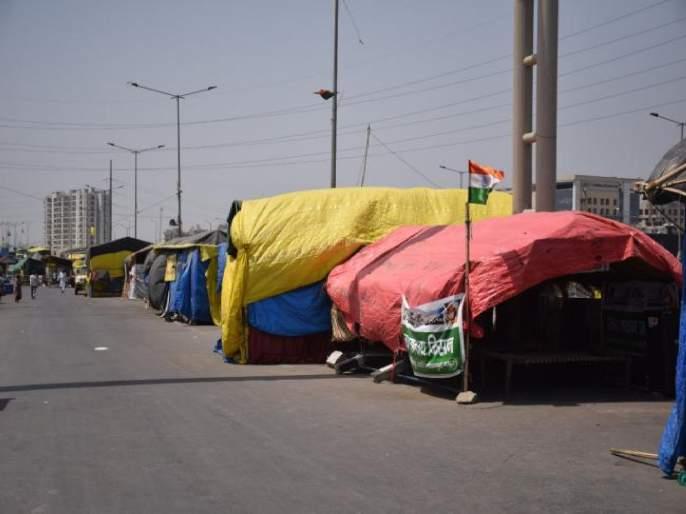 Farmers Protest: Corona's panic! Empty tents remain on the Delhi border agitating farmers withdrew | Farmers Protest: कोरोनाची दहशत! दिल्ली सीमेवर रिकामे टेंट उरले; आंदोलक शेतकरी माघारी फिरले