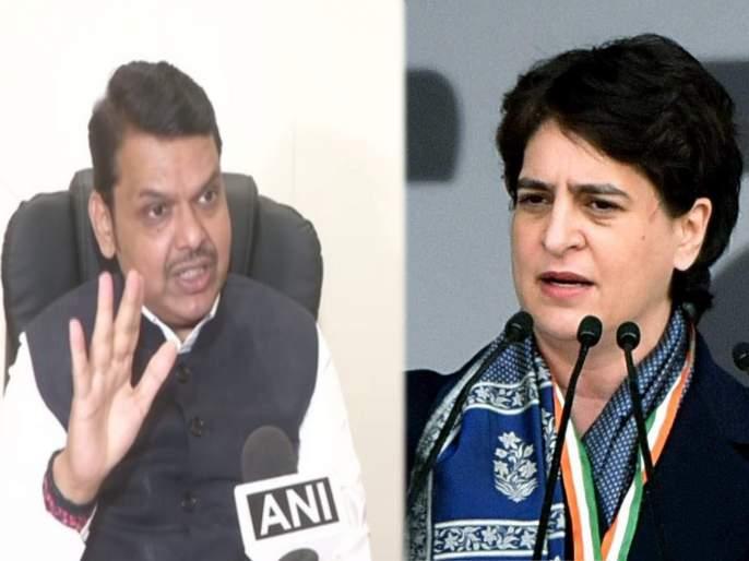 bjp devendra fadnavis replied priyanka gandhi on her statement   महाराष्ट्रातील सरकारसोबत कधी चर्चा केलीय का? फडणवीसांचा प्रियंका गांधींना प्रतिप्रश्न