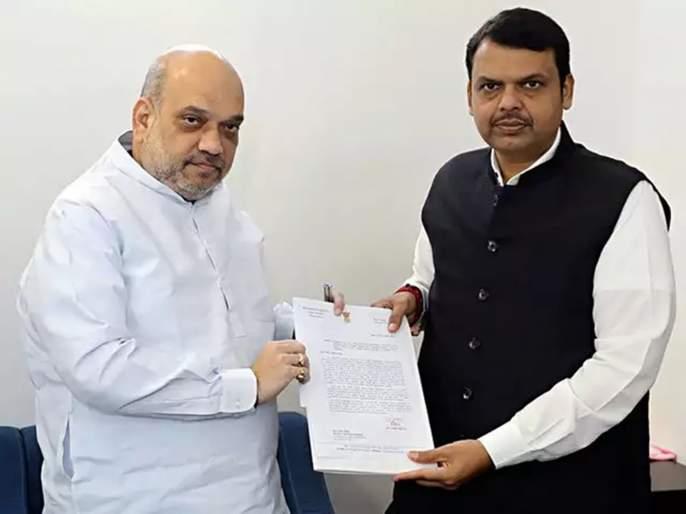 Chief Minister met Amit Shah in Delhi to help farmers | ओल्या दुष्काळासंदर्भात फडणवीसांची गृहमंत्री अमित शहा यांच्याशी चर्चा