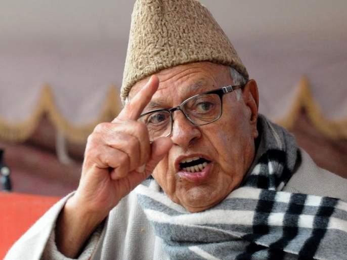 Farooq Abdullah called 'Bharat Mata Ki Jai', then kashmiri people target him | 'भारत माता की जय' म्हटल्याने काश्मीरमध्ये फारुक अब्दुलांना धक्काबुक्की