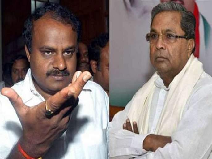 cold war between Kumaraswamy and Siddaramaiah on loose power in karnataka | कुमारस्वामी-सिद्धरामय्यांमध्ये सत्तांतरावरून जुंपली; पोपट-गिधाडाची दिली उपमा