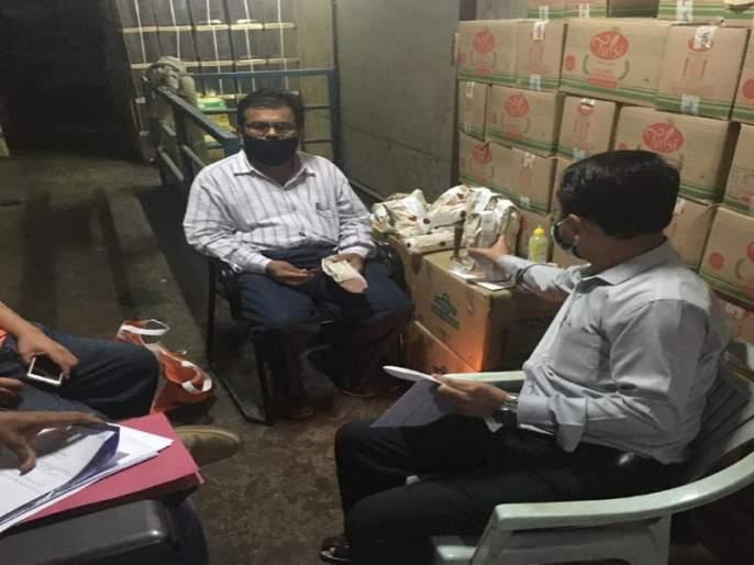 'Big' action of; Food stocks worth Rs 47 lakh seized in Pimpri on suspicion of adulteration | एफडीएची पुण्यात 'मोठी' कारवाई; भेसळीच्या संशयावरून ४७ लाखांचा खाद्यान्न साठा जप्त