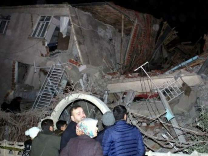 6.8 Richter scale earthquake in Turkey; 18 killed, 500 wounded | तुर्कस्तानमध्ये 6.8 रिश्टर स्केलचा भूकंप; 18 ठार, 500 जखमी