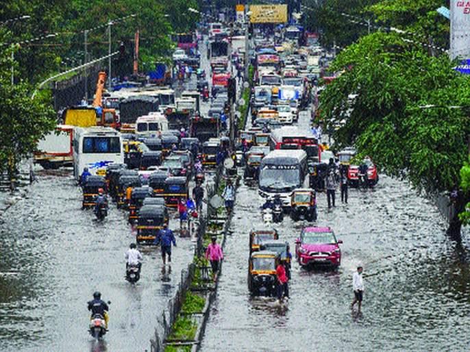 Heavy rains flooded Mumbai | मुसळधार पावसाने मुंबई तुंबली