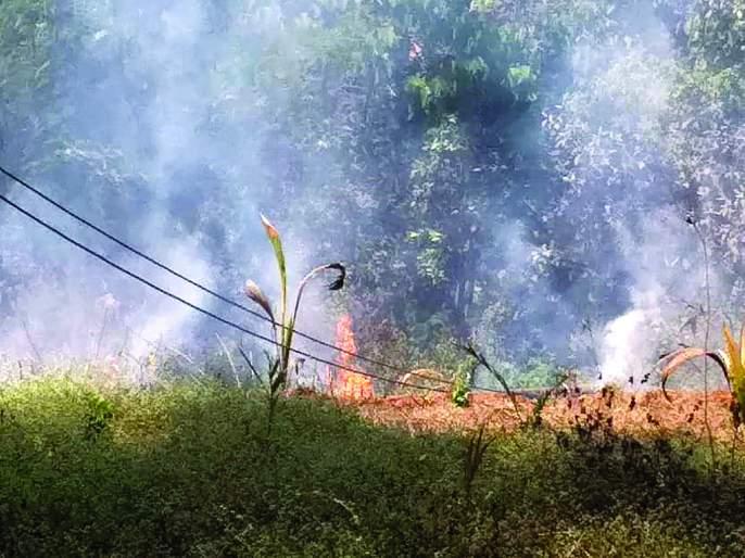Fire at Kathia project unit in Kudala, loss of around Rs | कुडाळातील काथ्या प्रकल्प युनिटला आग, सुमारे २५ लाखांचे नुकसान