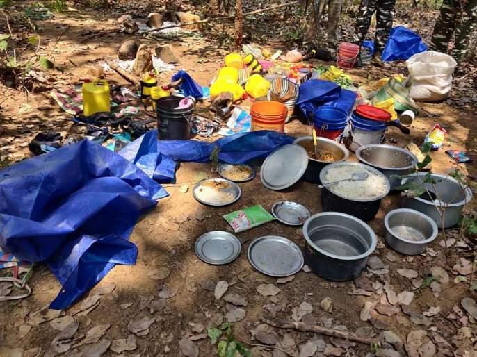 Encounter between Police & Naxalites Gadchiroli   पोलिसांनी उधळला घातपाताचा कट, भूसुरुंग स्फोट व चकमकीनंतर नक्षलवादी जंगलात पळाले