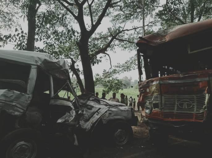 Death toll on Gadhinglaj-Mahagaon road-5 deaths on the spot- Death nool village | गडहिंग्लज- महागाव रस्त्यावर भीषण अपघात-5 जणांचा जागीच मृत्यू -मृत नूल गावचे