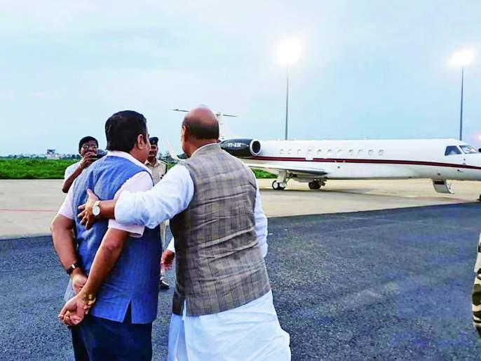 Nitinji, take care of your health! Gadkari inquired by Rajnath Singh   नितीनजी, सेहत का ख्याल रखिए ! राजनाथसिंह यांनी केली गडकरींची चौकशी