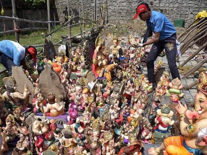 Ganesh Festival 2019 Go green this Ganesh Chaturthi with these easy way | Ganesh Festival 2019 : निर्माल्य, गणेशमूर्ती दान करूया, जलसाठे सुरक्षित ठेवूया!
