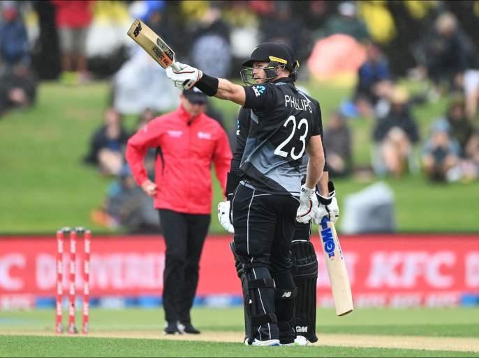 NZ vs WI: Glenn Phillips records fastest T20I century from New Zealand; NZ to 238/3, their third-highest T20I total | NZ vs WI : ग्लेन फिलिप्सनं न्यूझीलंडकडून नोंदवलं ट्वेंटी-20तील जलद शतक; विंडीज गोलंदाजांचं कंबरडं मोडलं