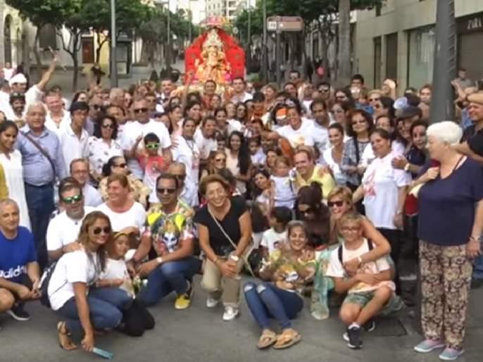 'World' opponent! Ganeshotsav celebrated with enthusiasm in Spain, local villagers took part in procession | 'विश्व'विनायक! स्पेनमध्येही उत्साहात साजरा झाला गणेशोत्सव, स्थानिकांनी काढली जल्लोषात मिरवणूक