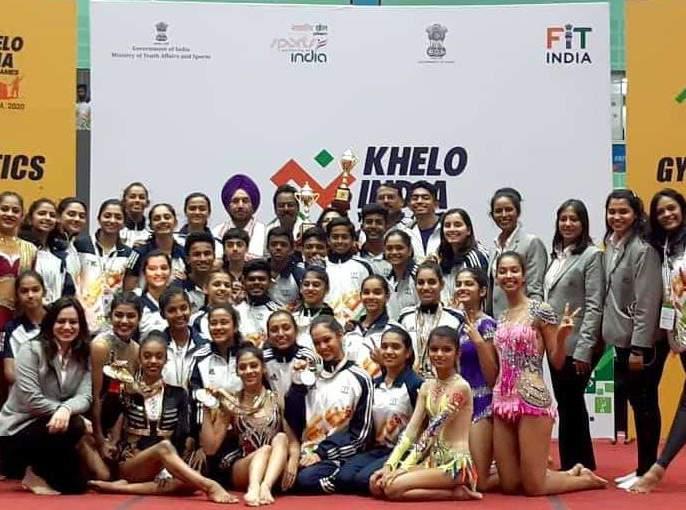 Khelo India: Maharashtra won championship in gymnastics   खेलो इंडिया : जिम्नॅस्टिक्समध्ये महाराष्ट्राला सर्वसाधारण विजेतेपद